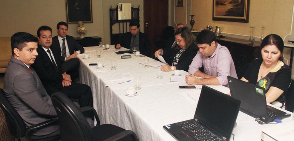 Grupo de trabalho do TJCE definiu ações para instalar novas varas judiciárias no Ceará — Foto: TJCE/Reprodução