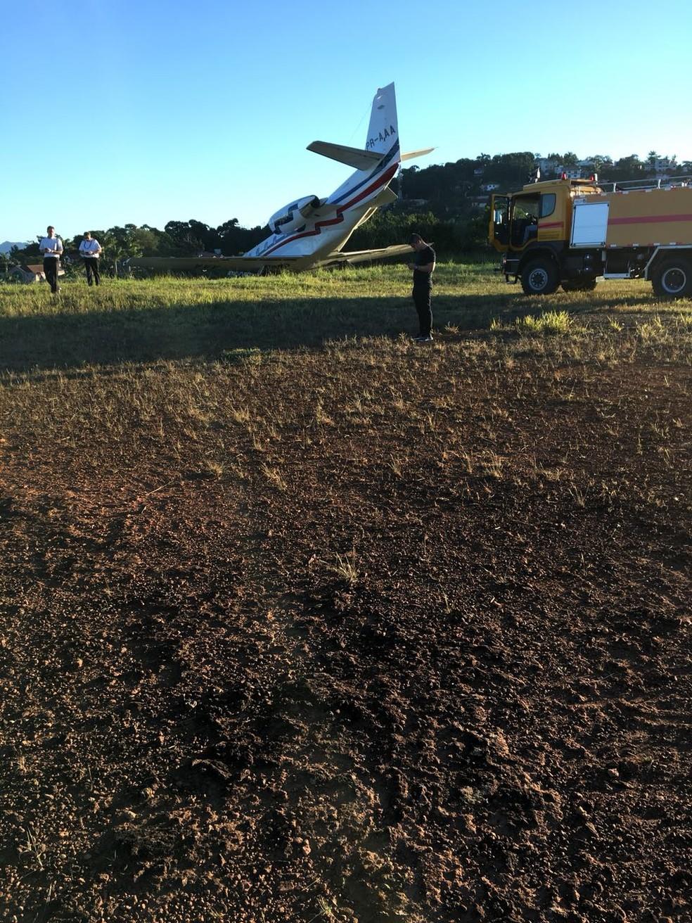 Avião que levava DJ Alok saiu da pista de aeroporto de Juiz de Fora (Foto: Arquivo pessoal)