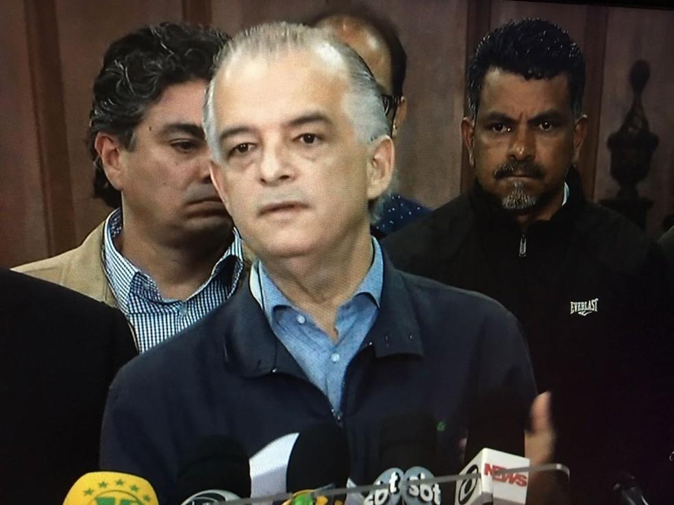 Governador de São Paulo, Márcio França (PSB) (Foto: Reprodução/TV Globo)