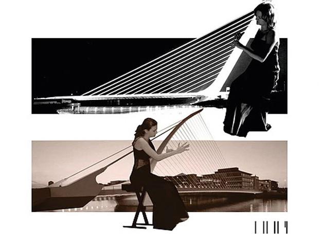 A ponte de Allamillo, na Espanha, virou uma harpa (Foto: Filipe Vasconcelos/ Reprodução)