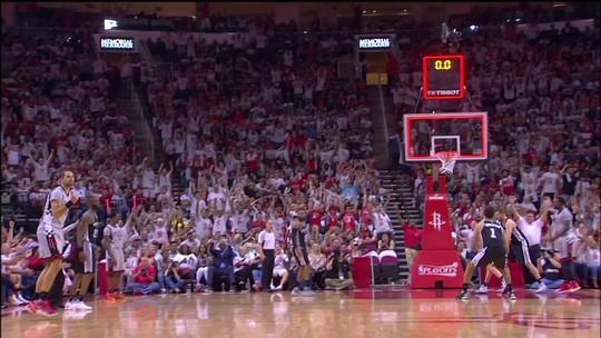 Harden comanda, e Rockets empatam semi com os Spurs; Nenê sai lesionado