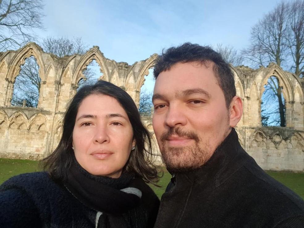 Fabiana Queiroz e marido Gabriel Garcia — Foto: Arquivo pessoal