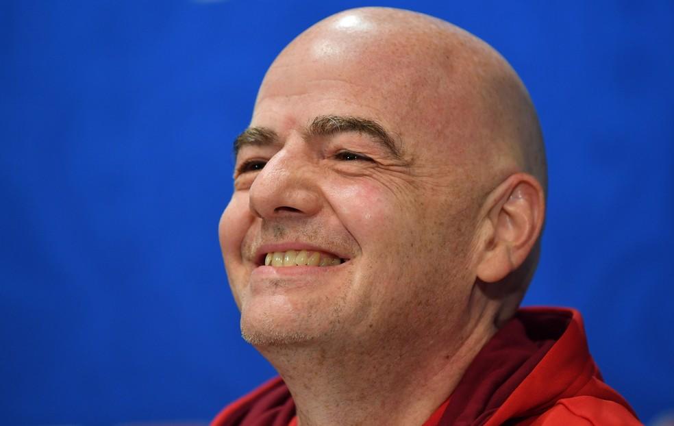 Gianni Infantino terá que vencer resistência da Uefa para levar novos formatos adiante — Foto: Getty Images