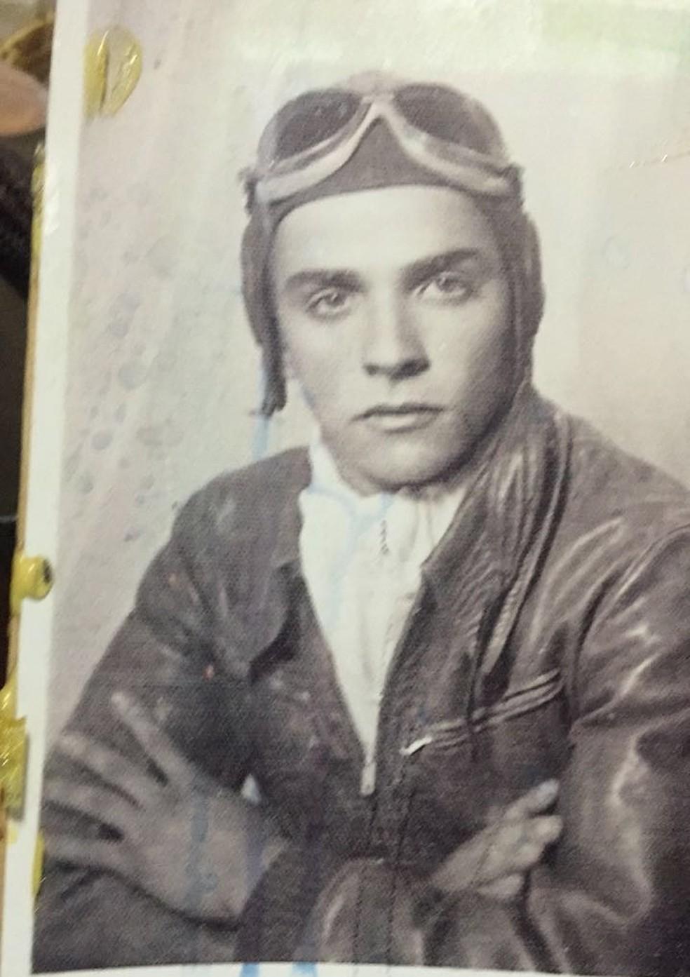 Pai de piloto Wagner filho morreu em acidente aéreo em 1971 — Foto: Arquivo pessoal