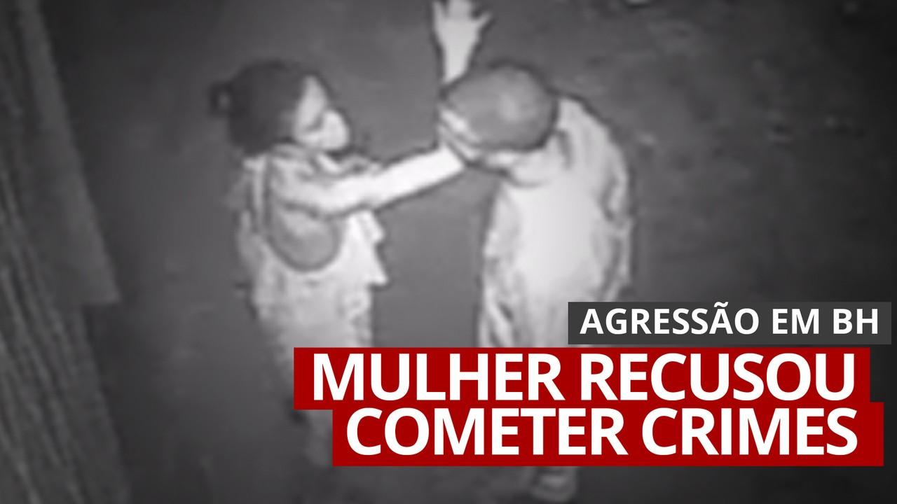 VÍDEO: Homem agride companheira depois dela se recusar a cometer crimes em BH