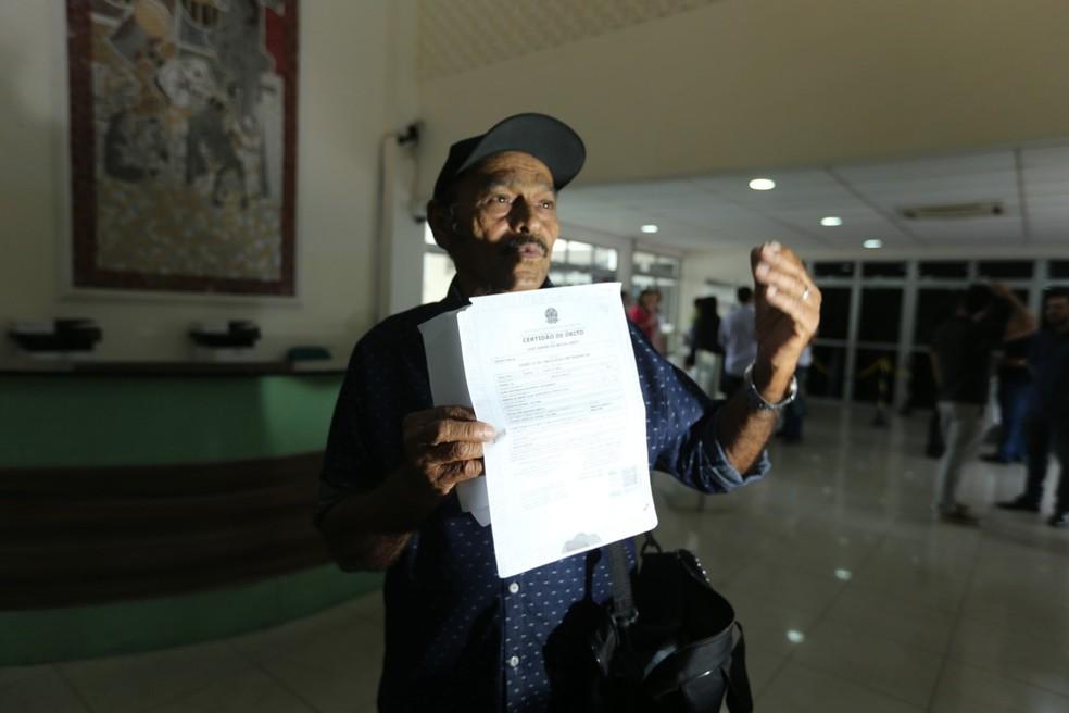 Ex-mulher de pedreito testemunhou o 'óbito' do pedreiro, que não consegue mais se casar novamente — Foto: José Leomar/SVM