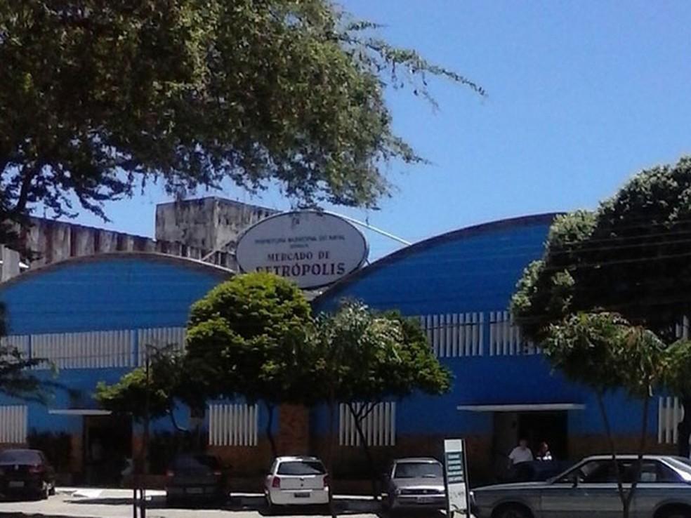 Mercado Petrópolis fica na Avenida Hermes da Fonseca, em Natal — Foto: Divulgação/Secom