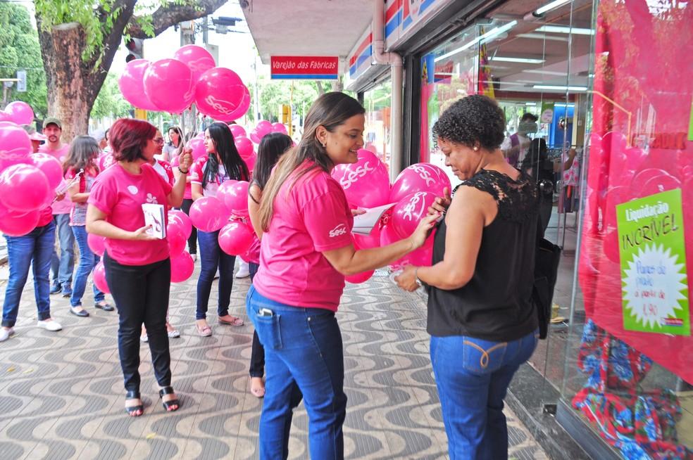 Sesc promove ações de prevenção ao câncer de mama em 13 cidades do Ceará.  — Foto: Divulgação