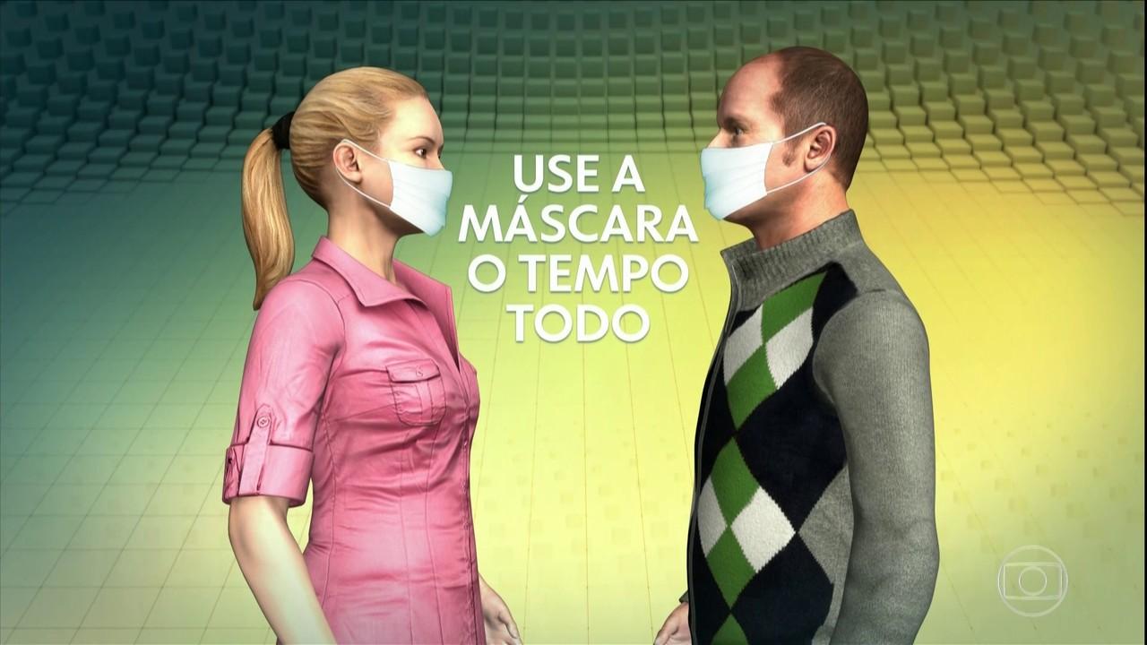 Conversar com máscara é mais seguro