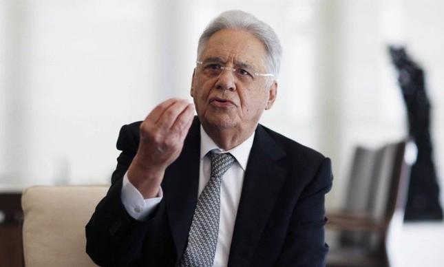 Ex-presidente Fernando Henrique Cardoso em entrevista para O GLOBO