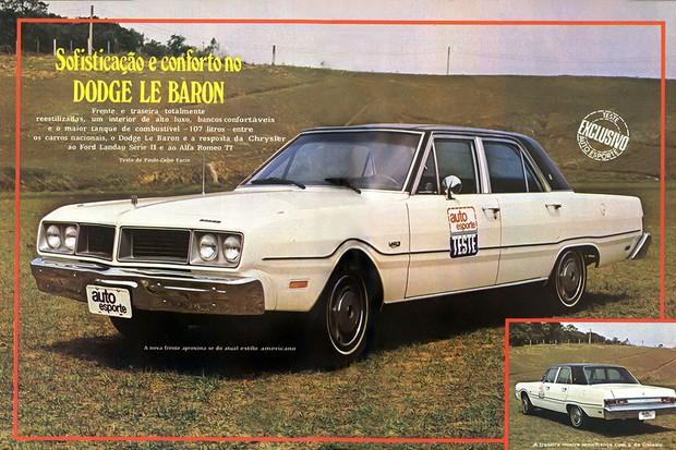 Reprodução das páginas de abertura da reportagem: Sofisticação e conforto no Dodge Le Baron (Foto: Autoesporte)