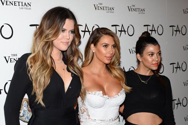As irmãs Kardashian Khloé, Kim e Kourtney (Foto: Getty Images)