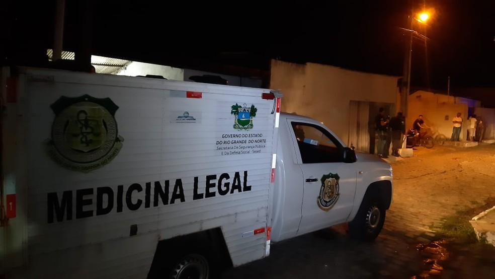 Crime aconteceu na noite desta terça-feira (11) em Macaíba, na região metropolitana de Natal — Foto: Sérgio Henrique Santos/Inter TV Cabugi
