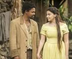 Michel Gomes e Gabriela Medvedovski como Samuel e Pilar em 'Nos tempos do Imperador' | Globo