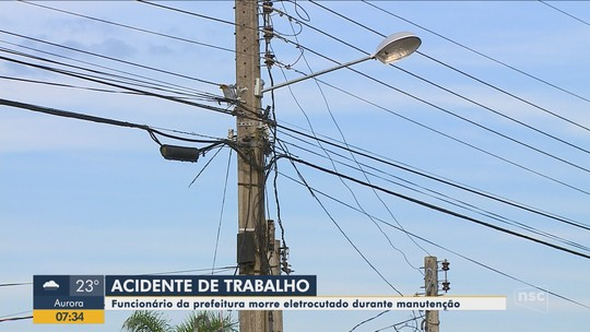 Servidor da prefeitura morre eletrocutado enquanto trabalhava em Araranguá