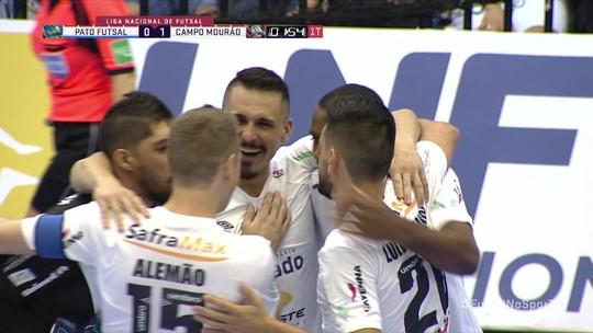 Com direito a dois golaços de Fabinho, Campo Mourão vence o Pato Futsal fora de casa