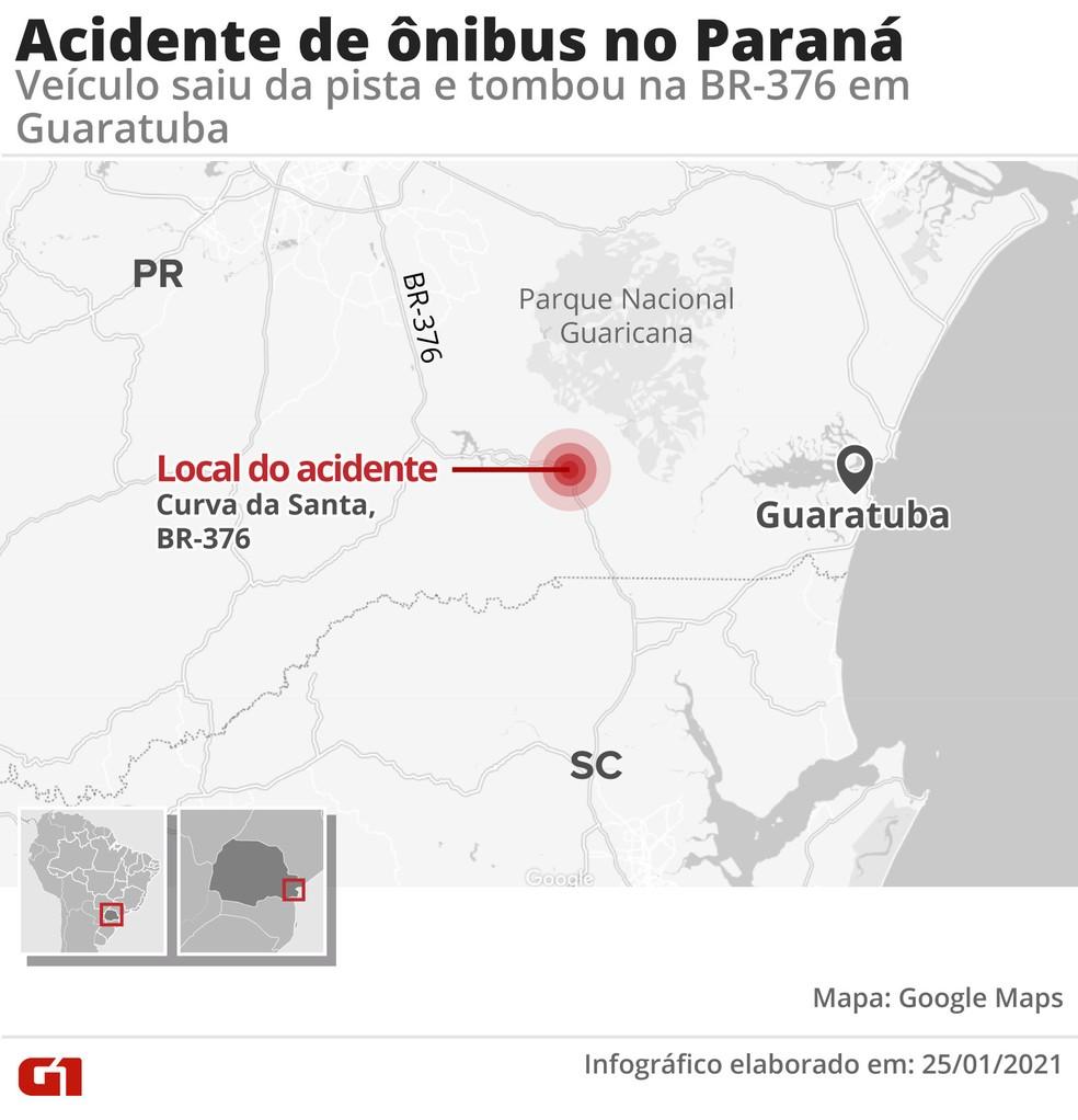 Batida aconteceu na pista que leva ao litoral catarinense — Foto: Arte/G1
