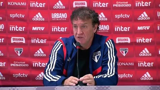 """Cuca valoriza a quinta vitória seguida do São Paulo e faz elogio: """"Foi um time muito cascudo"""""""