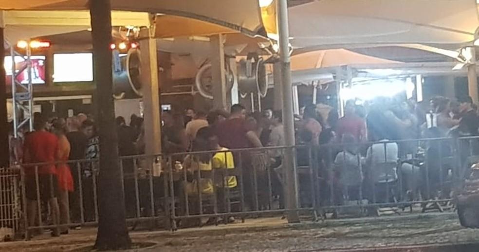 Bar lotado em Natal (arquivo) — Foto: Felipe Melo/Cedida