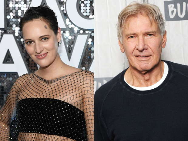 Phoebe Waller-Bridge e Harrison Ford (Foto: Getty)