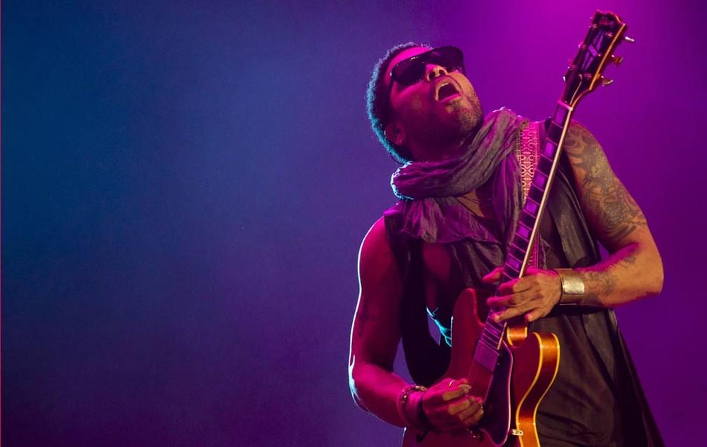 Lenny Kravitz no Rock in Rio 2011 — Foto: Felipe Dana/AP