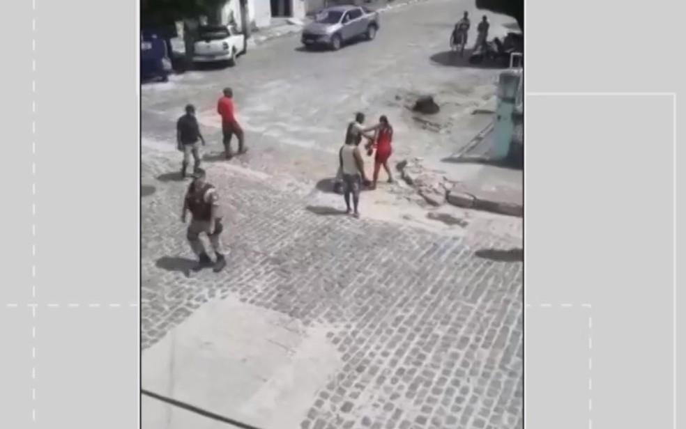 Jovem é agredida com tapas no rosto por policial na BA: 'Me sentindo mal'; militar é afastado — Foto: Arquivo Pessoal