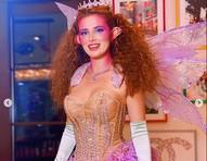 Bella Throne, ex-estrela da Disney, mostra demais com fantasia de fada