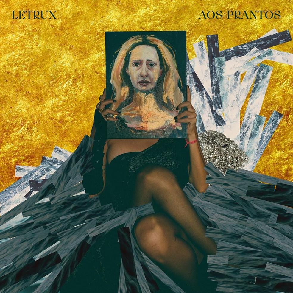 Capa do álbum 'Aos prantos', de Letrux — Foto: Ana Alexandrino com arte de Pedro Colombo