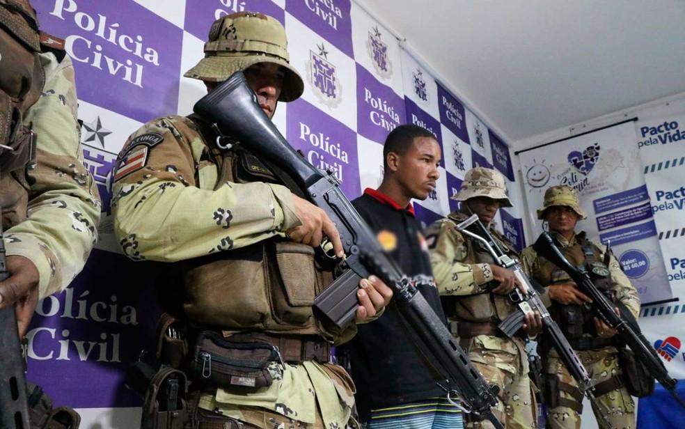Suspeito havia sido preso em dezembro do ano passado, mas posteriormente foi posto em liberdade (Foto: Divulgação/SSP-BA)
