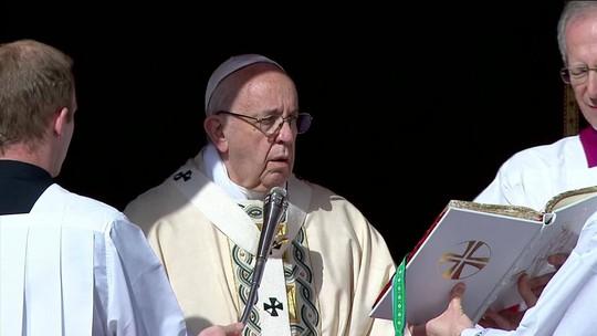 Conflito na Terra Santa 'não poupa os indefesos', diz papa Francisco em mensagem de Páscoa