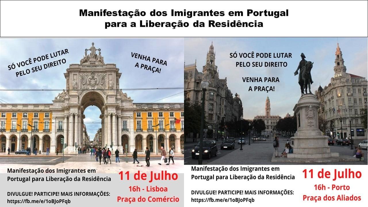 Manifestações simultâneas em Lisboa e Porto