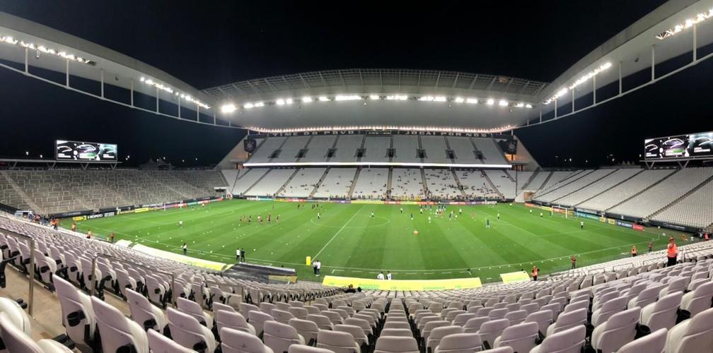 Corinthians tenta acordo com a Caixa para pagar a Arena Corinthians — Foto: Ana Canhedo