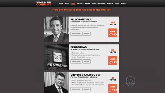 Votação vai escolher casos mais simbólicos de corrupção no mundo