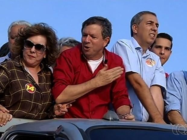 Vice-governador de Goiás é baleado; candidato a prefeito morre  (Foto: Reprodução/TV Anhanguera)