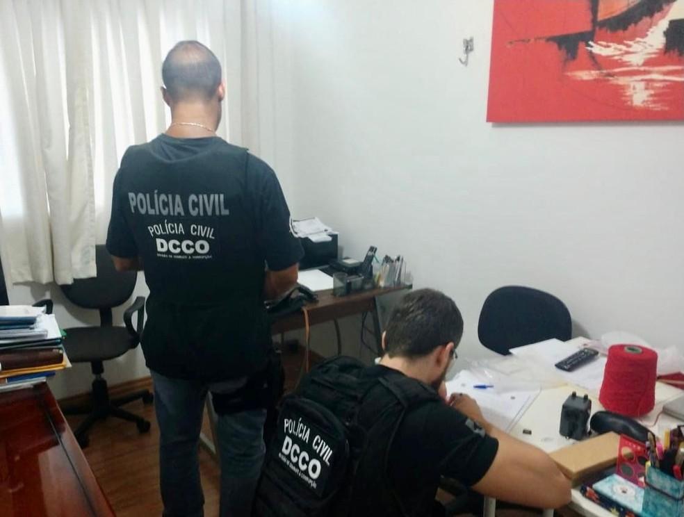Empresários são presos suspeitos de fraudar licitações públicas no Paraná e Santa Catarina — Foto: Divulgação/Polícia Civil