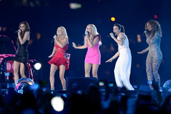O show das Spice Girls no encerramento das Olimpíadas de Londres em 2012 (Foto: Getty Images)