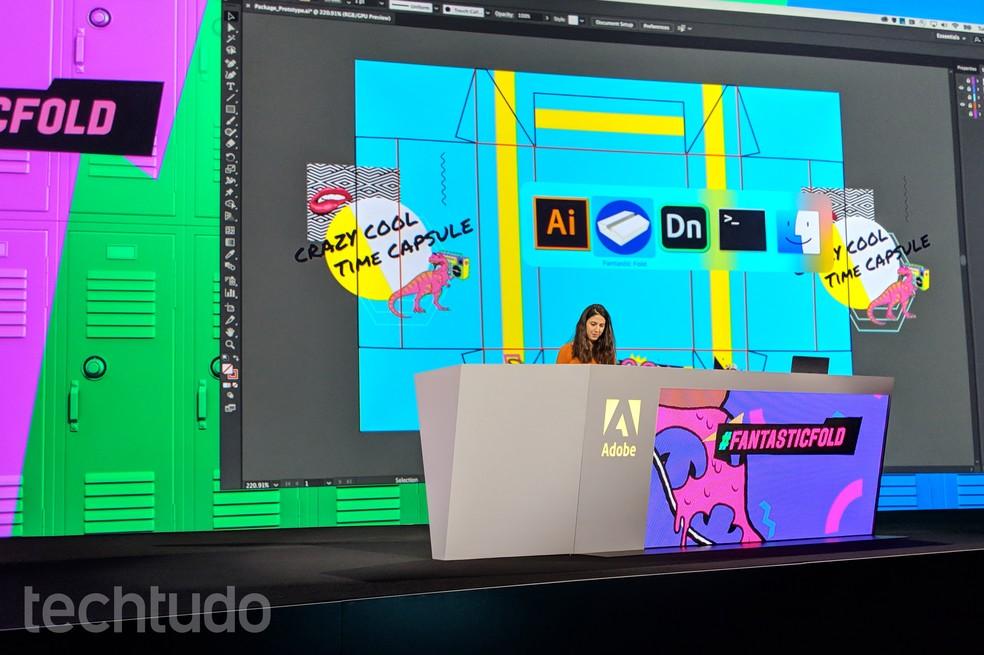 Max Sneaks é a sessão do evento da Adobe em que as novas tecnologias da empresa são apresentadas — Foto: Nicolly Vimercate/TechTudo