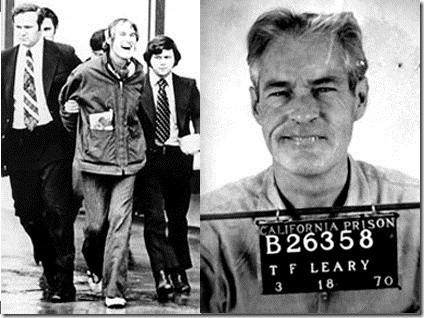 Timothy Leary durante uma prisão em 1972