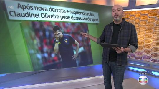 Técnico Claudinei Oliveira pede demissão do Sport