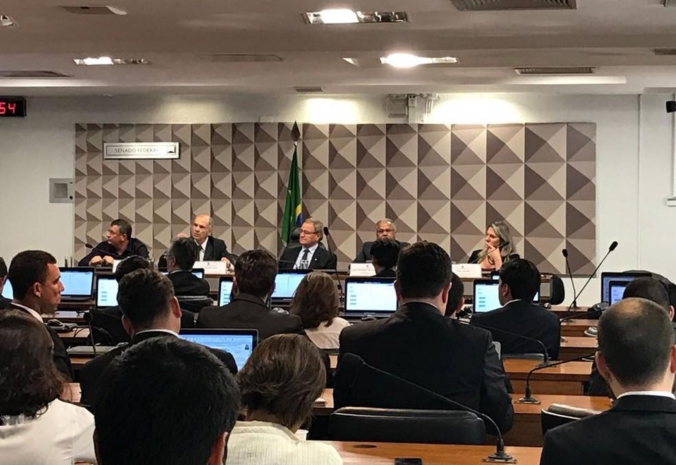 Representantes de entidades participam de audiência pública no Congresso sobre tabela de fretes (Foto: Hamanda Viana/G1)