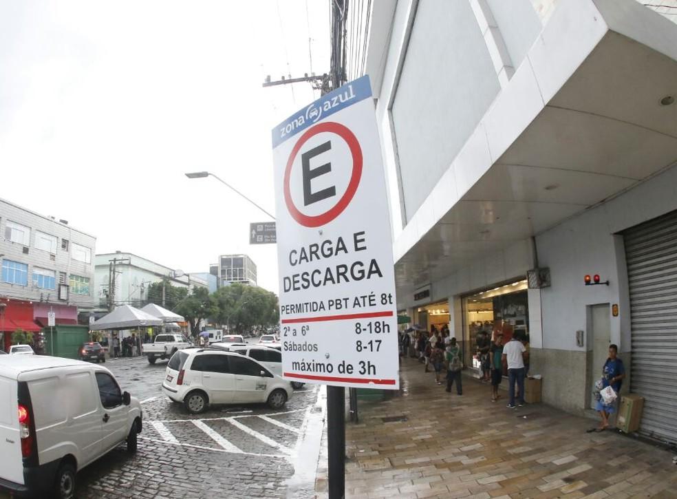 Zona Azul começa operar nas ruas do bairro Vieiralves nesta quarta-feira (15) — Foto: Semcom/Divulgação