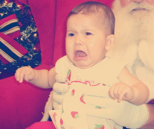 Bárbara quando tinha 10 meses (Foto: Arquivo pessoal)