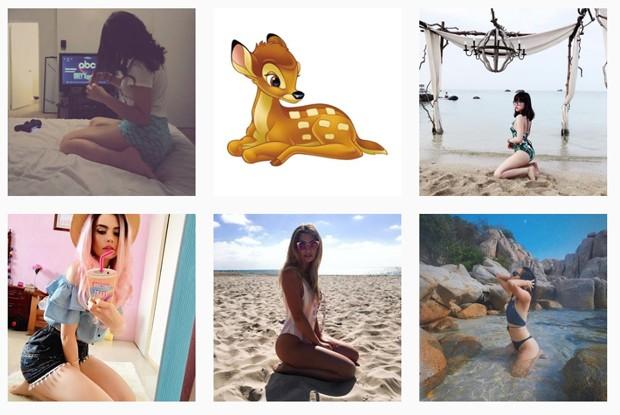 Internautas na web entram na onda da pose Bambi (Foto: Reprodução/Instagram)