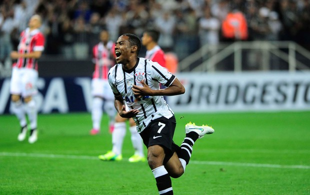 Elias gol Corinthians x São Paulo, Libertadores (Foto: Marcos Ribolli)