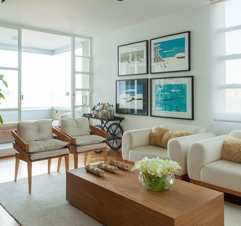 Apê de 280 m² de 1959 ganha restauro para ser lar e escritório de arquiteto