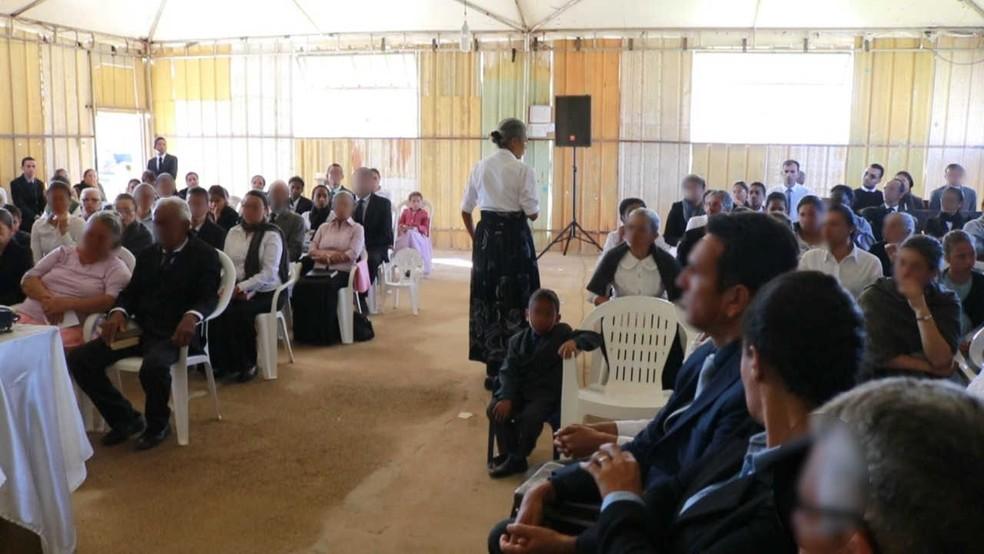 Culto na Igreja Adventista Remanescentes de Laodiceia, no DF, em imagem de arquivo — Foto: Arquivo pessoal