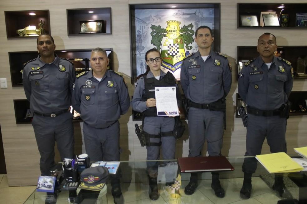Comando Geral da PM fez homenagem à policial — Foto: Arquivo pessoal