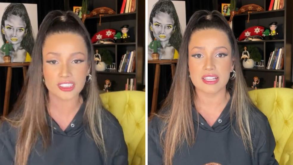 Juliette desabafa sobre vida pós-BBB21 em live — Foto: Reprodução/Instagram