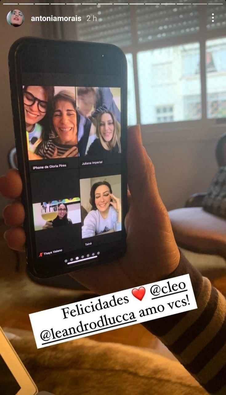 Antonia Morais mostra pós de casamento de Cleo (Foto: Reprodução/Instagram)