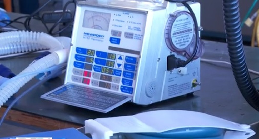 Respiradores mecânicos são consertados por força-tarefa em Salvador — Foto: TV Bahia